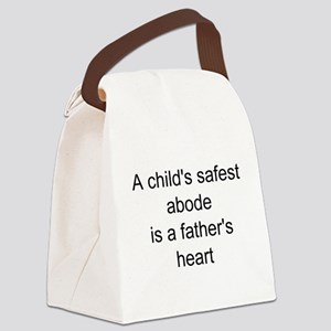 father child saying Canvas Lunch Bag