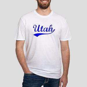 Vintage Utah (Blue) Fitted T-Shirt