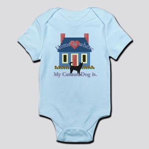 Canaan Dog Home Is Infant Bodysuit