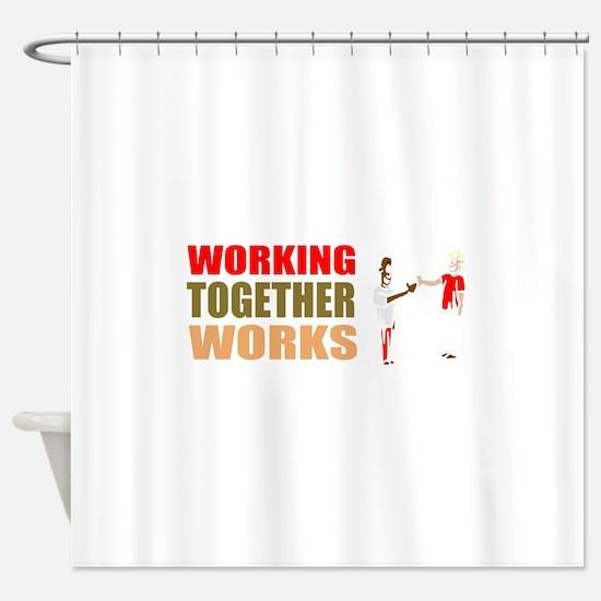 Motivational self-employed Shower Curtain