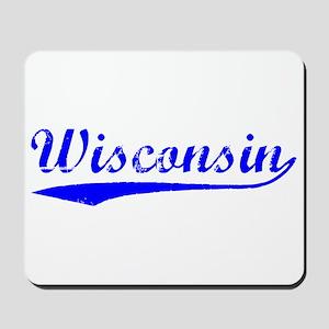 Vintage Wisconsin (Blue) Mousepad