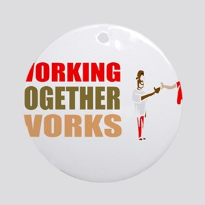 Motivational work business Round Ornament