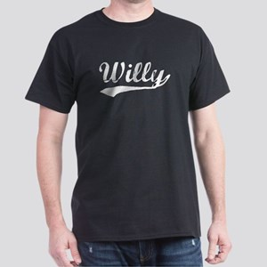 Vintage Willy (Silver) Dark T-Shirt