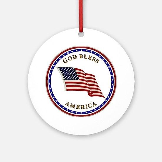 God Bless America Keepsake (Round)