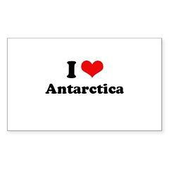I love Arctic Rectangle Sticker 50 pk)