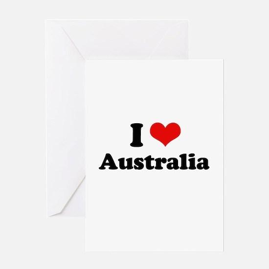 I love Australia Greeting Card