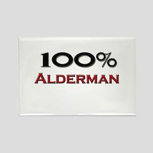100 Percent Alderman Rectangle Magnet