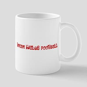 Incan Rules Football Heart Design Mugs