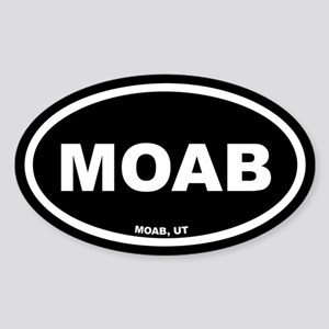 MOAB Utah Black Euro Oval Sticker