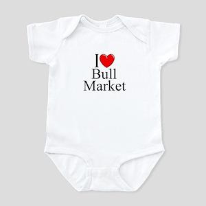 """""""I Love (Heart) Bull Market"""" Infant Bodysuit"""