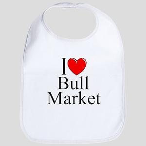 """I Love (Heart) Bull Market"" Bib"