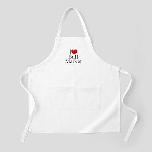 """I Love (Heart) Bull Market"" BBQ Apron"