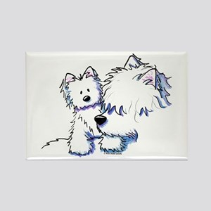 Mom & Baby Westies Rectangle Magnet