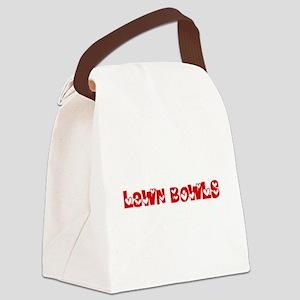 Lawn Bowls Heart Design Canvas Lunch Bag