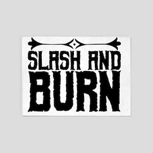 slash and burn 5'x7'Area Rug
