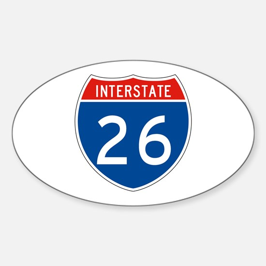 Interstate 26, USA Oval Decal