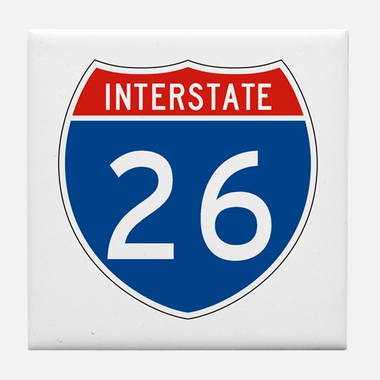Interstate 26, USA Tile Coaster