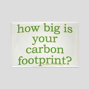 Carbon Footprint Awareness Rectangle Magnet