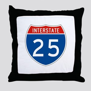 Interstate 25, USA Throw Pillow