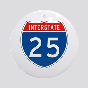 Interstate 25, USA Ornament (Round)