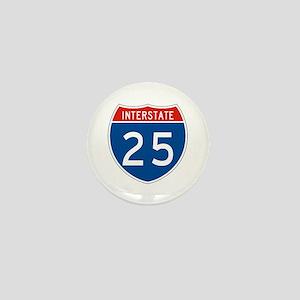 Interstate 25, USA Mini Button