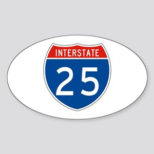 Interstate 25, USA Oval Sticker