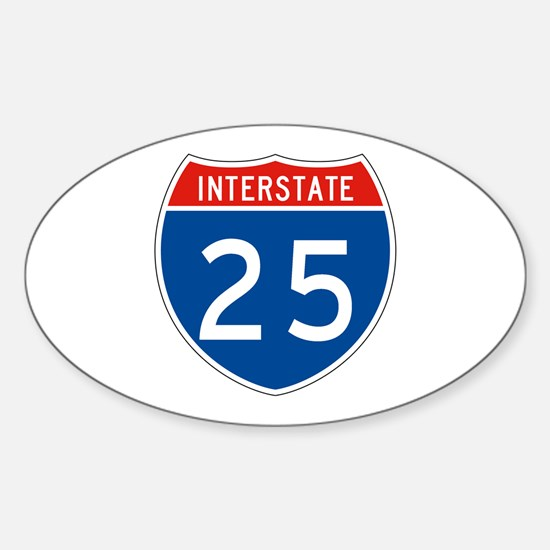 Interstate 25, USA Oval Decal