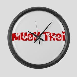 Muay Thai Heart Design Large Wall Clock