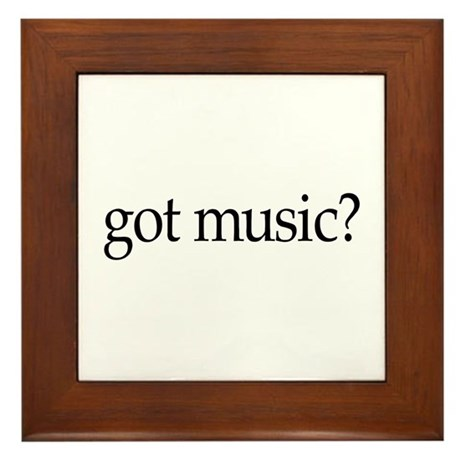 got music? Framed Tile