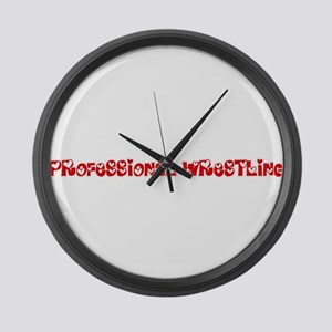 Professional Wrestling Heart Desi Large Wall Clock