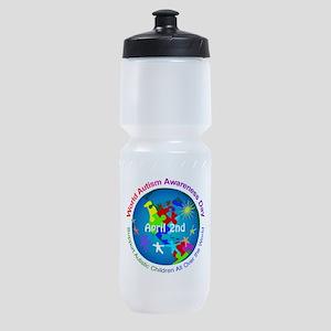 World Autism Awareness Day Sports Bottle