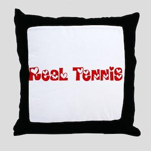 Real Tennis Heart Design Throw Pillow