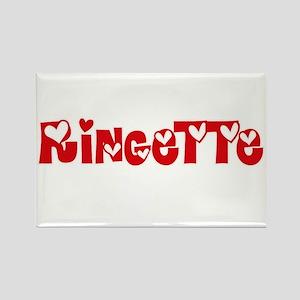 Ringette Heart Design Magnets