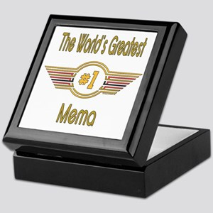 Number 1 Mema Keepsake Box