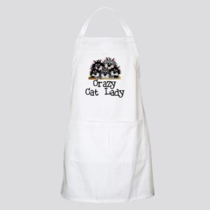 Crazy Cat Lady BBQ Apron