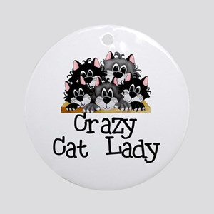 Crazy Cat Lady Ornament (Round)