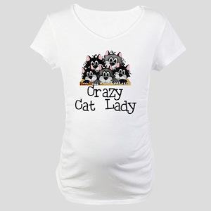 Crazy Cat Lady Maternity T-Shirt