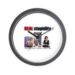 Real Stupidity Wall Clock