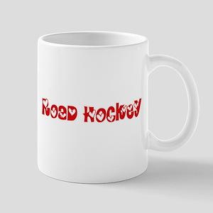 Road Hockey Heart Design Mugs