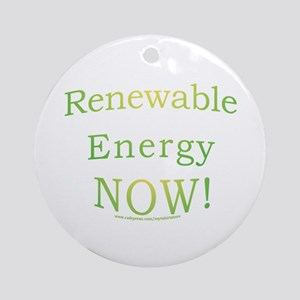 Renewable Energy NOW! Ornament (Round)