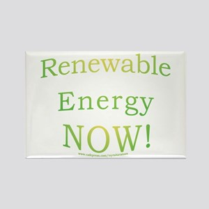 Renewable Energy NOW! Rectangle Magnet
