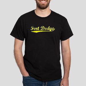 Vintage Fort Dodge (Gold) Dark T-Shirt