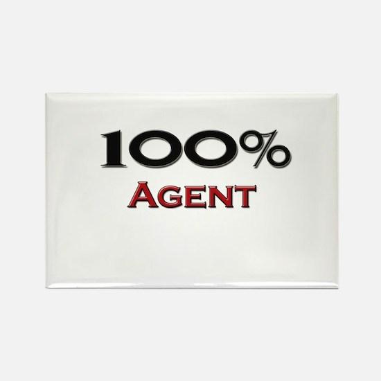 100 Percent Agent Rectangle Magnet