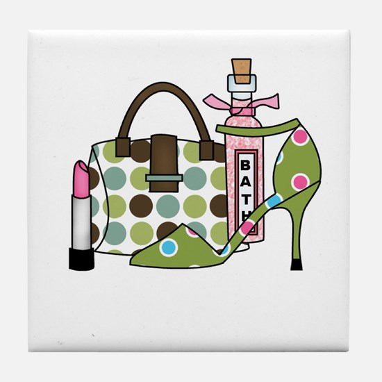 Bags and Heels Tile Coaster