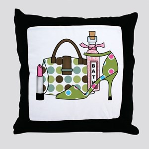 Bags and Heels Throw Pillow