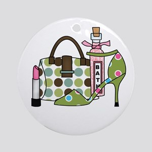 Bags and Heels Ornament (Round)