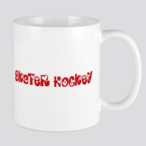 Skater Hockey Heart Design Mugs