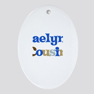 Kaelyn's Cousin Oval Ornament