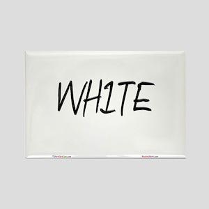 White Rectangle Magnet