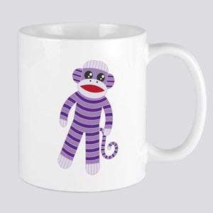 Purple Sock Monkey Mug